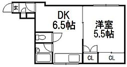 サンセレクト東札幌I[202号室]の間取り
