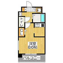 スワンズ京都二条城北[206号室]の間取り