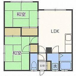 協栄荘[2階]の間取り