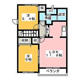 マジョリティ−[2階]の間取り