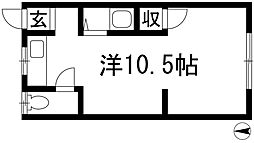 兵庫県川西市加茂1丁目の賃貸アパートの間取り