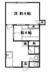 ラパール・ピア[2階]の間取り