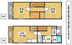福岡県北九州市八幡西区青山3丁目の賃貸アパートの間取り