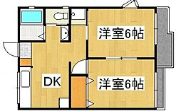 リベール倉敷[1階]の間取り