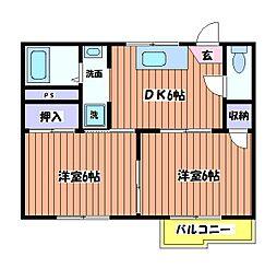 メゾン・ド・クレール[1階]の間取り