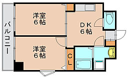 ドリーム県庁前[9階]の間取り