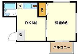 豊島ハイツ[3階]の間取り
