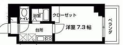 東京都荒川区荒川5丁目の賃貸マンションの間取り