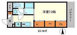 リブリ・江坂[1階]の間取り