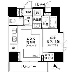 東京メトロ南北線 麻布十番駅 徒歩11分の賃貸マンション 4階1LDKの間取り