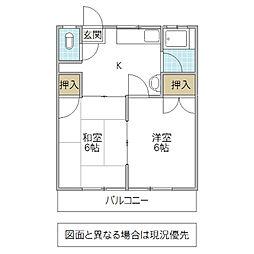 鈴木ハイツ[101号室号室]の間取り