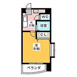グランディール名駅[8階]の間取り