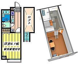 埼玉県さいたま市南区円正寺の賃貸アパートの間取り
