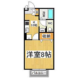 セジュール・ソシア B[1階]の間取り
