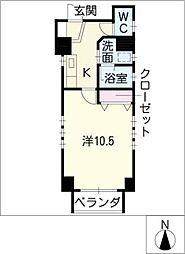 サンハイム東山[8階]の間取り