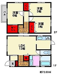 [一戸建] 福岡県福岡市南区長住1丁目 の賃貸【/】の間取り