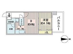 S-RESIDENCE円山表参道 8階1LDKの間取り