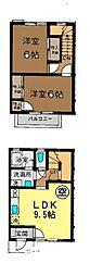 [テラスハウス] 神奈川県茅ヶ崎市浜之郷 の賃貸【神奈川県/茅ヶ崎市】の間取り