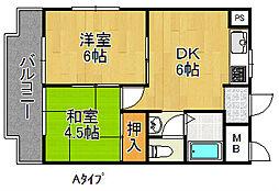 グラシオコハマ[3階]の間取り