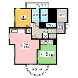 SMY88植田[5階]の間取り