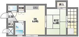 メゾンクレール[4階]の間取り