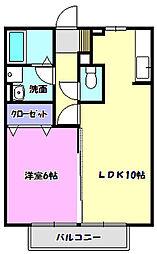 ブルーメンベート[2階]の間取り
