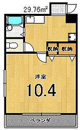 エクサージュ嵯峨野[102号室]の間取り