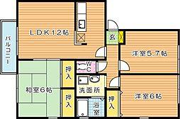 フレマリールASOU B棟[2階]の間取り