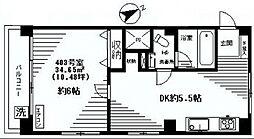 リッツ麻布[4階]の間取り