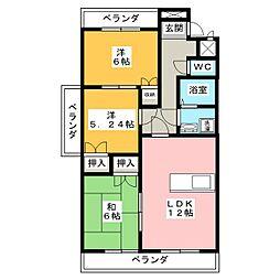 フローレンス新宮[3階]の間取り