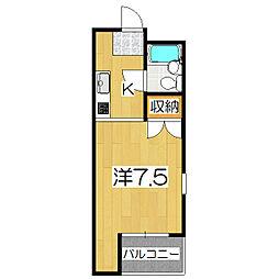 ハウスオブローゼ[307号室]の間取り