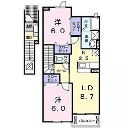 ブルックサイド[2階]の間取り