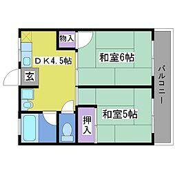 アスカハイム[2階]の間取り