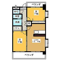 パークサイドカノウ[4階]の間取り