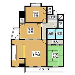 ヒルハイツ浅井[4階]の間取り