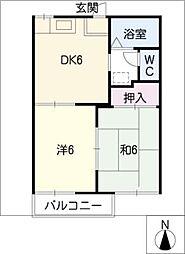 メゾンド伊藤[2階]の間取り