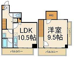 THE CUBE 5階1LDKの間取り
