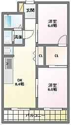 第三太田コーポ[2階]の間取り