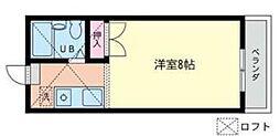 神奈川県座間市相模が丘6丁目の賃貸アパートの間取り