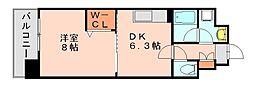 トゥリートップ[6階]の間取り