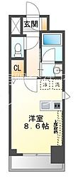 第2フクマルビル 2階ワンルームの間取り