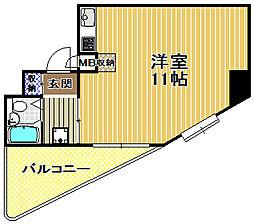 オーキッド此花[4階]の間取り
