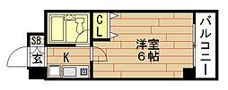 エスリード野田駅前[2階]の間取り