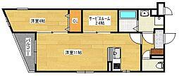 仮)プレステージ久留米津福試験場前[1階]の間取り