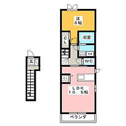 ソレイユ SG[2階]の間取り
