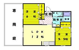 ファミーユK II[1階]の間取り