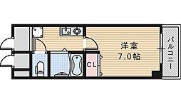 大阪府大阪市阿倍野区阪南町2丁目の賃貸マンションの間取り