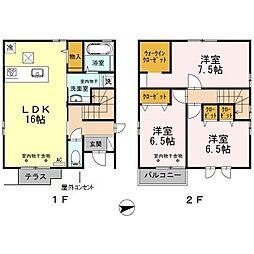 [一戸建] 石川県金沢市横川2丁目 の賃貸【/】の間取り