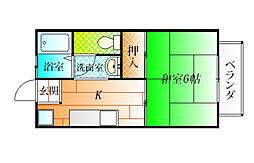 大阪府羽曳野市西浦1丁目の賃貸アパートの間取り