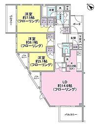 東京都目黒区駒場4丁目の賃貸マンションの間取り